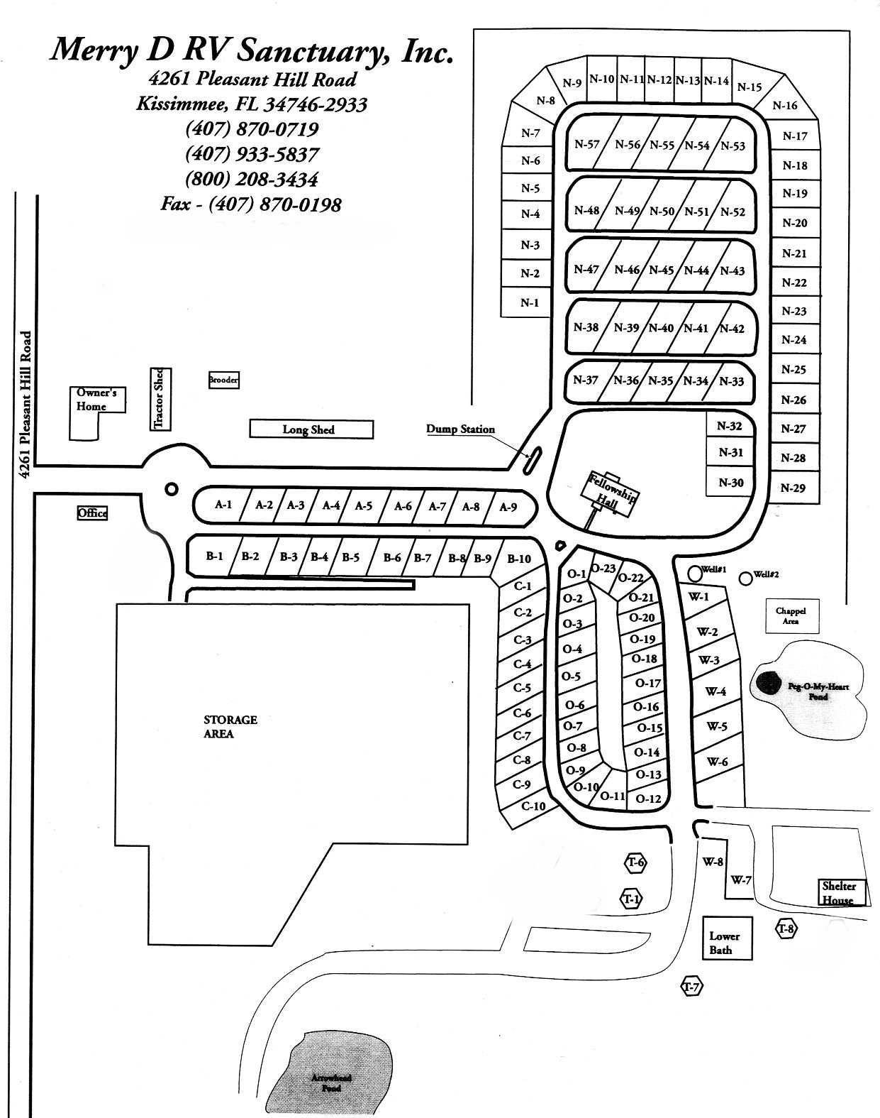 Kissimmee Florida Map.Maps Of The Merry D Rv Sanctuary In Kissimmee Fl